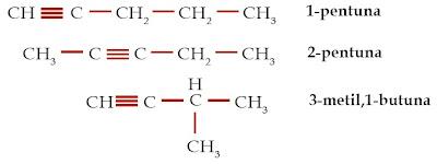 isomer pentuna C5H8 alkuna