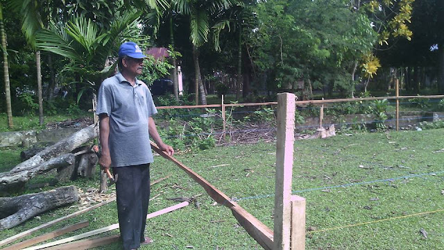 Proses Pembangunan Kantor Desa 4 Gampong Meunasah Blang Krueng Semideun Kec. Peukan Baro Kab. Pidie - Aceh
