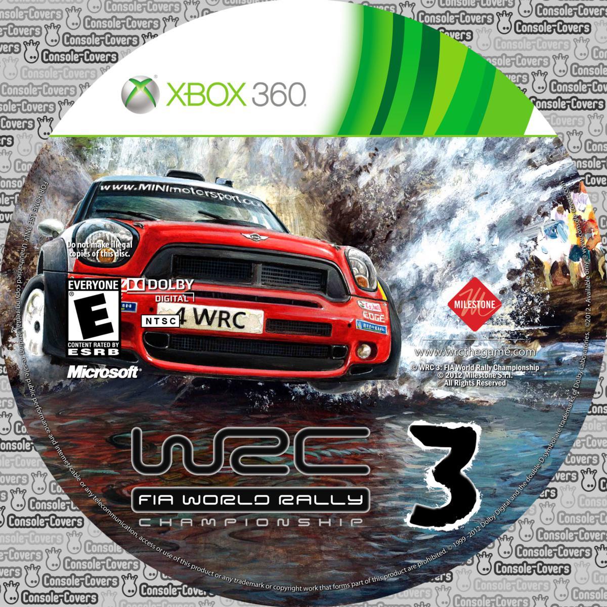 Label WRC 3 Fia World Rally Championship Xbox 360