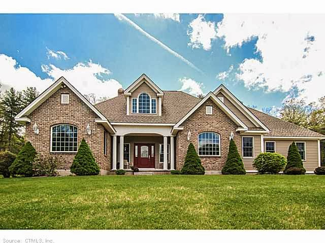 Connecticut homes gorgeous 3357 sqft brick ranch with for Custom built ranch homes