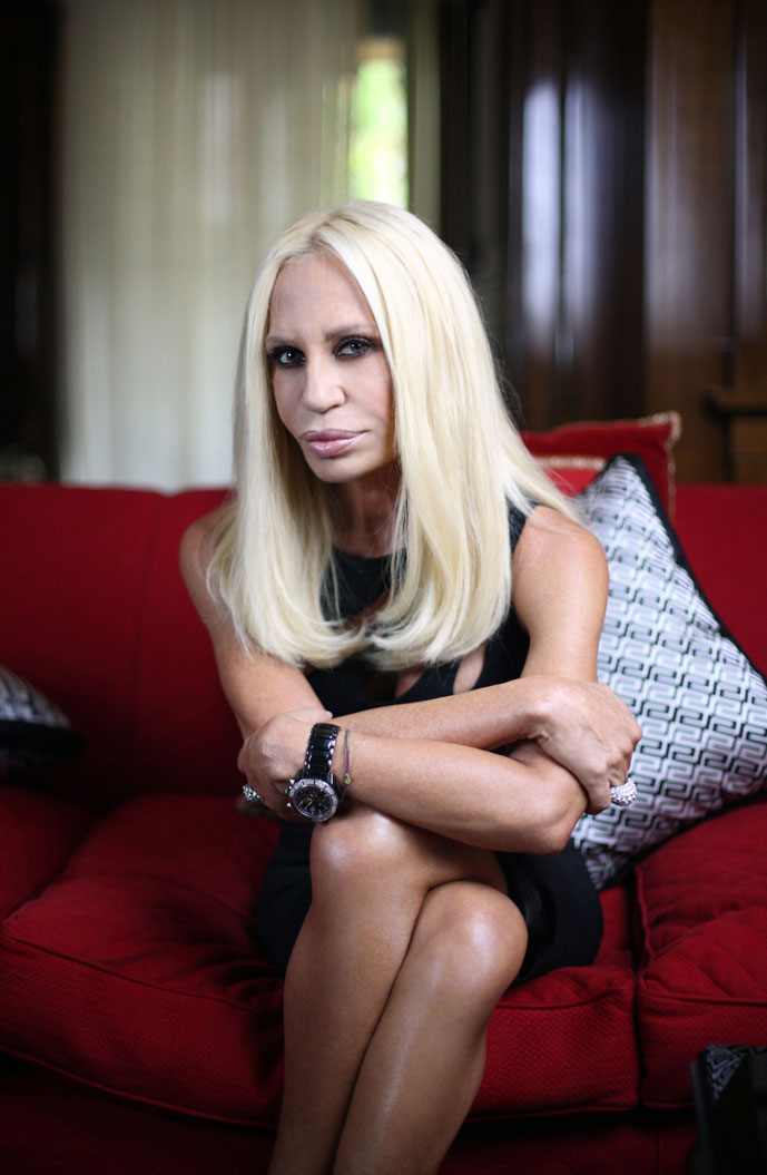 Donatella Versace photographed by Enzo Dal Verme
