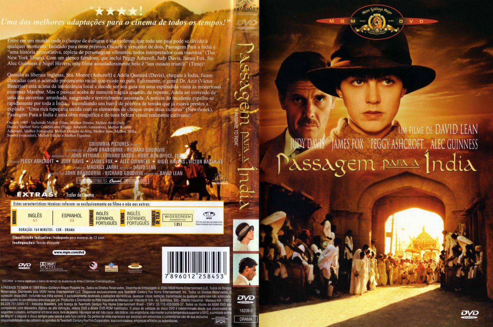 Capa DVD Passagem Para A Índia