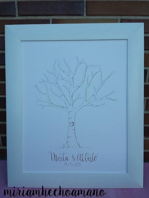 árbol huellas diy