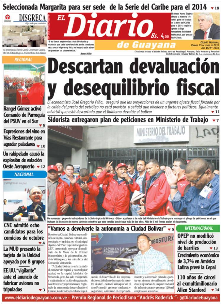 El Diario de Guayana (Bolívar) (15 de Junio 2012)
