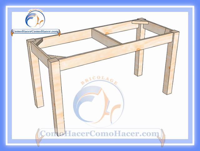 Como hacer una mesa de madera imagui - Como construir una mesa ...