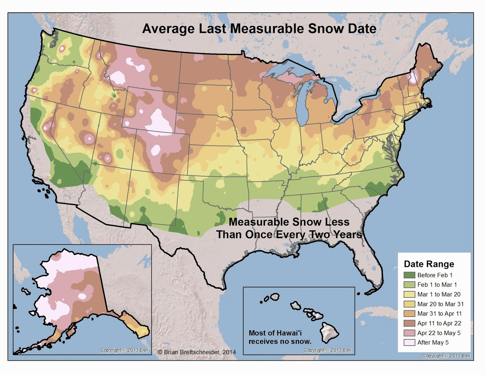 Brian Bs Climate Blog March - Us snowfall map 2012