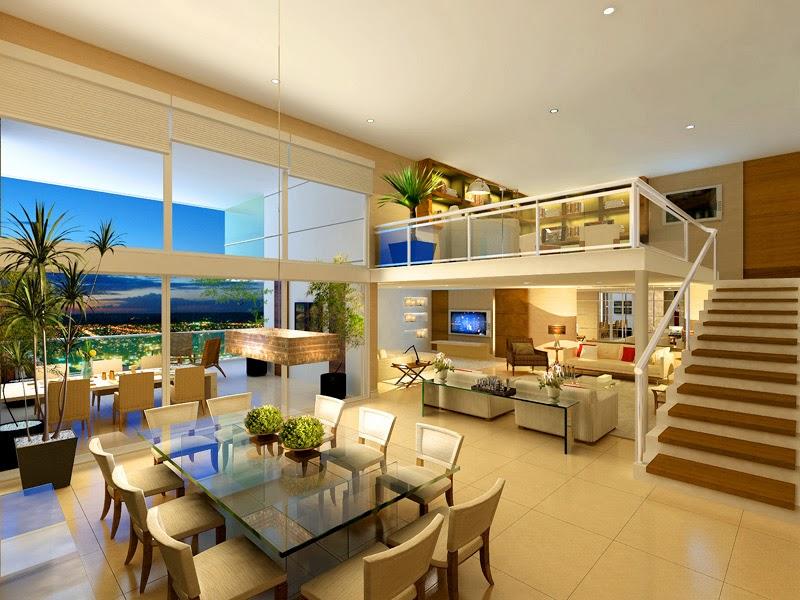 Casa com p direito duplo como decorar veja dicas e for Sala de estar de mansiones