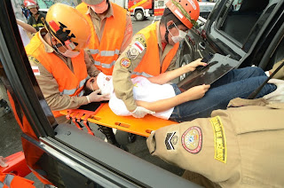 Simulação de acidente de trânsito envolvendo 25 vítimas é realizado por acadêmicos de Medicina