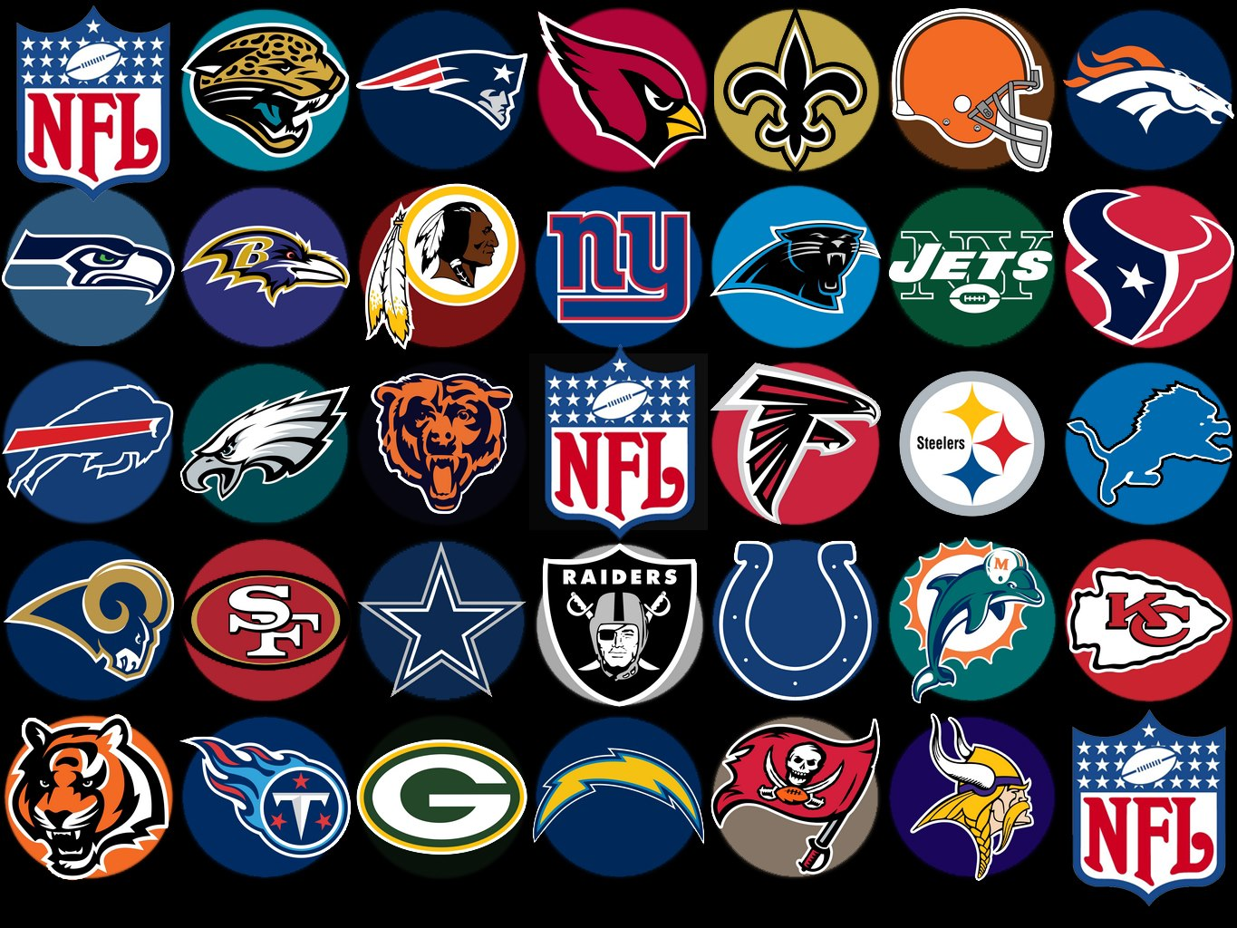 Terrible image intended for printable nfl logos