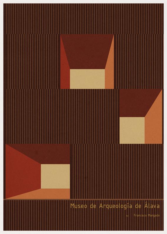 Museo de Arqueología de Álava - Francisco Mangado - Posters de Arquitectura Minimalistas de André Chiote