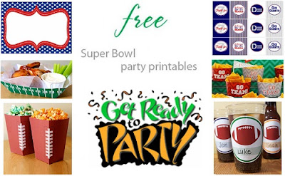Best Free Printables for Super Bowl Party 2012