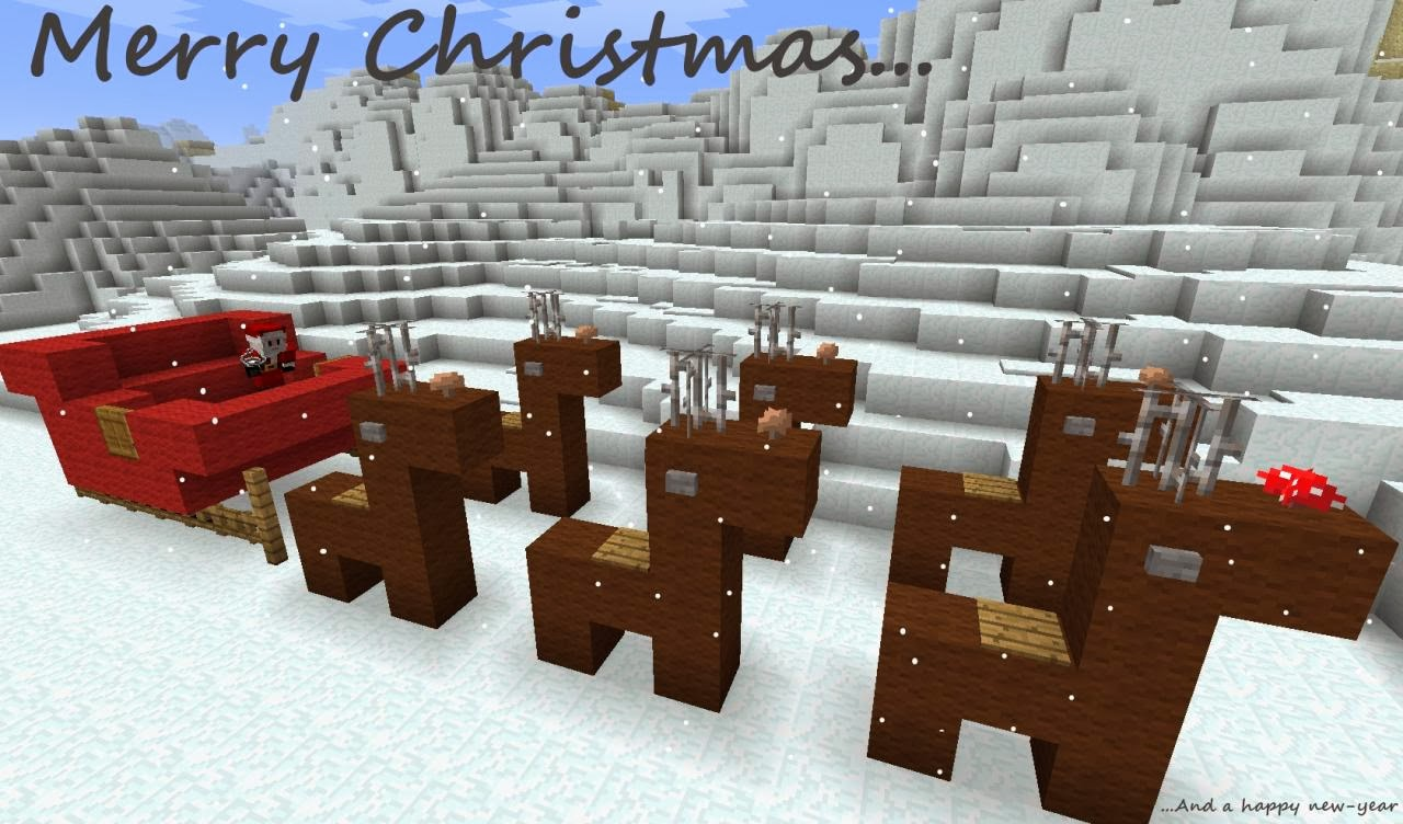 Santa  his reindeer Minecraft Xbox 360