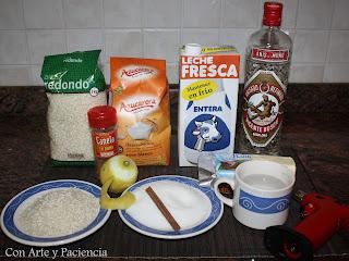 arroz,leche,asturiana,postre,azúcar,canela