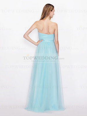SWEETHEART TULLE CONVERTIBLE BRIDESMAID DRESS IN FLOOR LENGTH -2