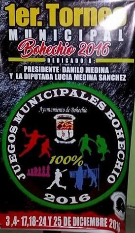Juegos municipales Bohechío-Arroyo Cano-Yaque del 03 al 23 dic.2016