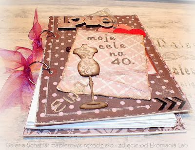 słodki notes w gorszki handmade shabby chic vintage
