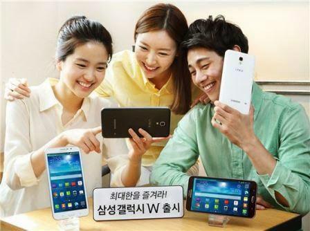 Samsung rilis Galaxy W di Korea, Ponsel Android dengan layar 7-inci