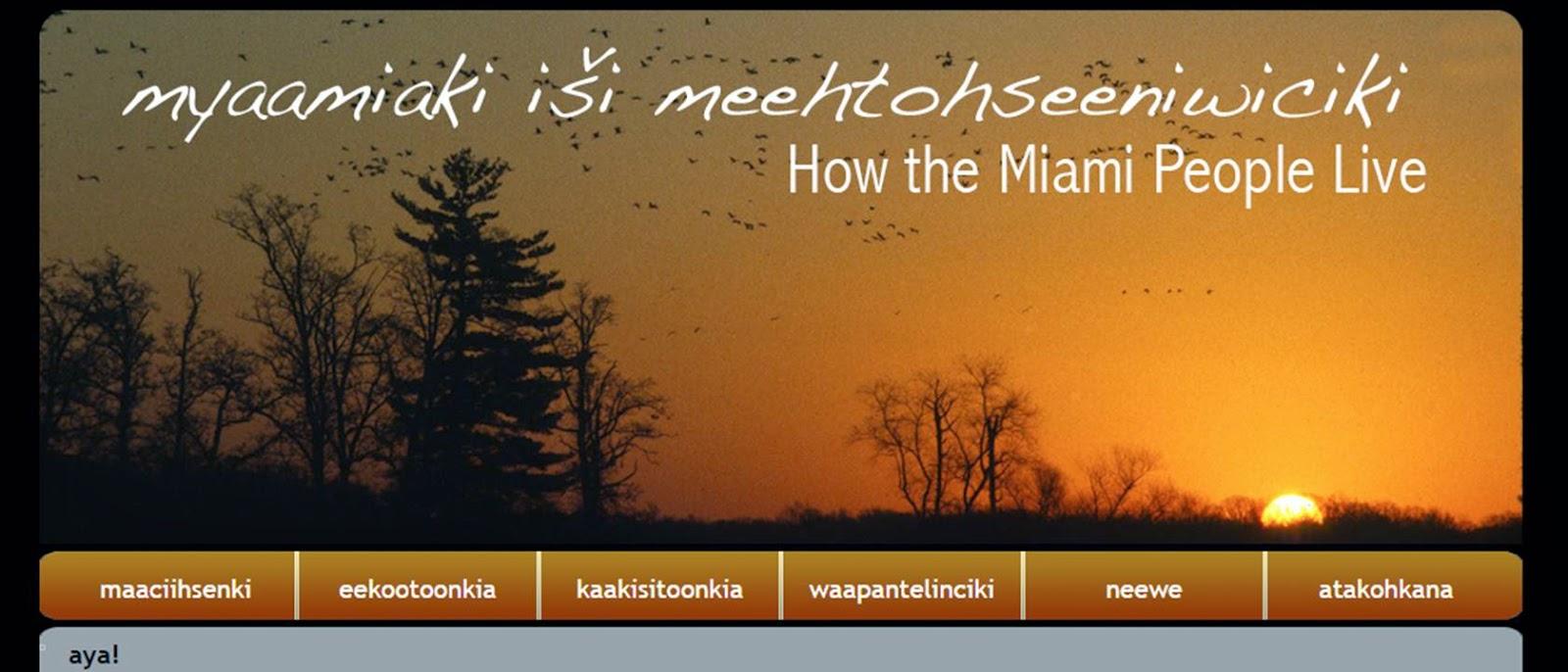 myaamiaki iši meehtohseeniwiciki: How the Miami People Live