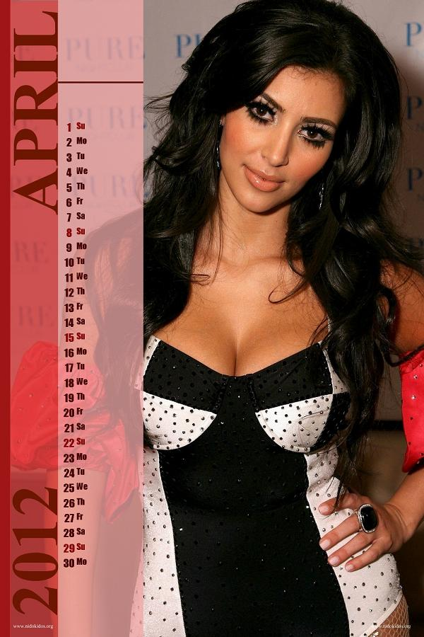Kim Kardashian Desktop Calendar 2012 New Year 2012 Calender Desktop Wallpapers Amazing 3d