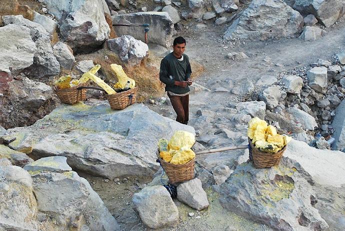 Minero descansando