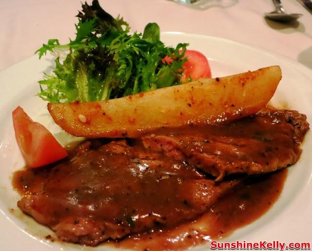KL Restaurant Week, OPUS Bistro @ Bangkung, bangsar, Food Review, Italian food, cuisine, Grilled Minute Sirloin Steak with Black Pepper Sauce, steak, beef, meat
