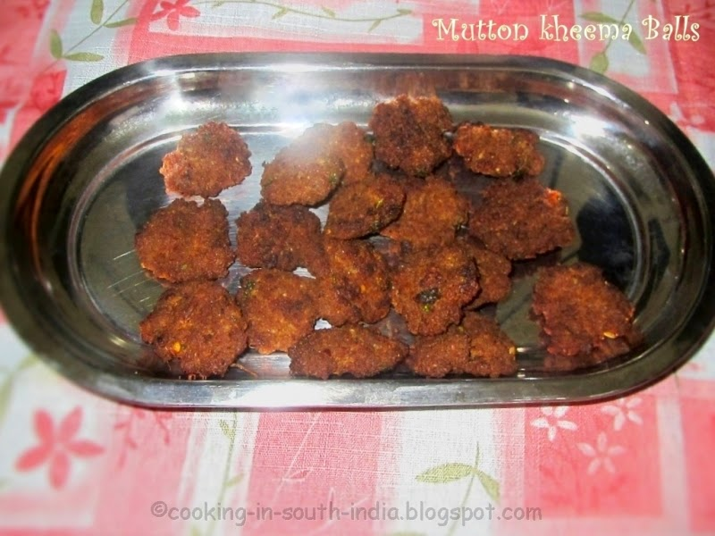 Mutton Keema balls Kola Urundai