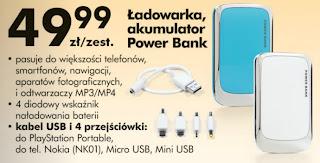 Ładowarka, akumulator Power Bank z Biedronki ulotka