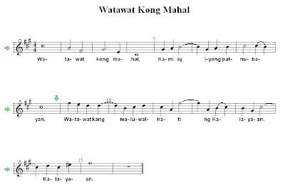 Watawat Kong Mahal - Filipino Folk Song Sheet Music
