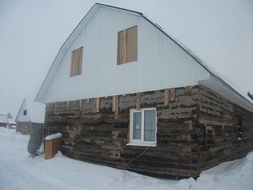 Дом из шпал картинки