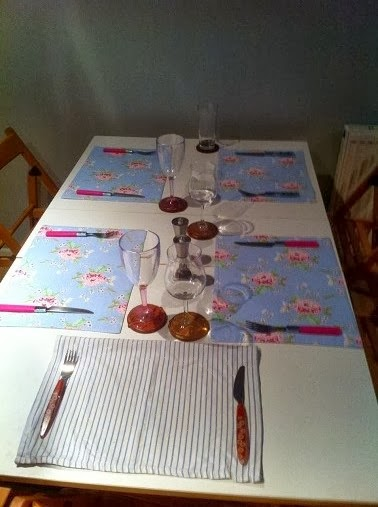 Table set for tapas