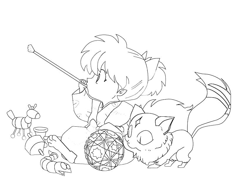 InuYasha Shippo Play Ball  Mario
