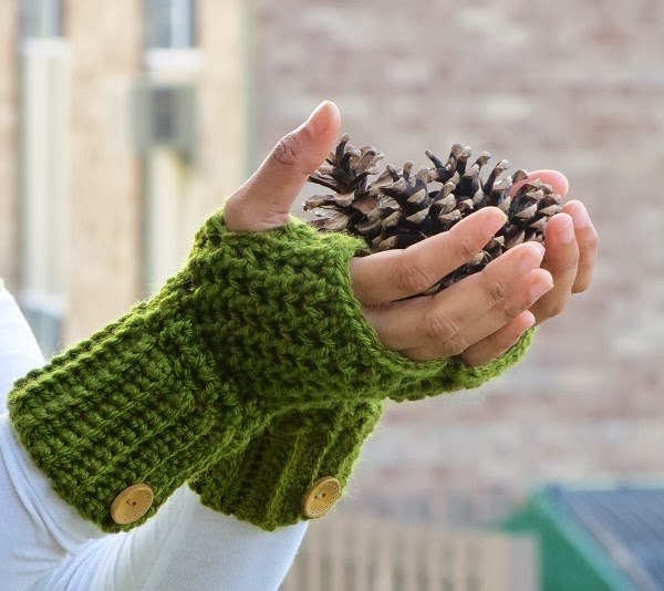 ... : Brooklyn Fingerless Mitts or Wrist Warmers, Free Crochet Pattern
