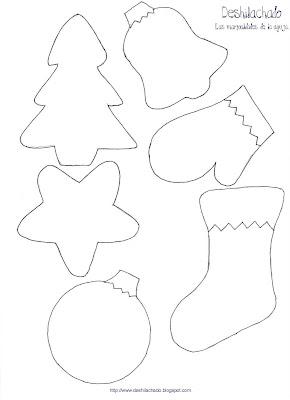 Deshilachado tutorial adornos navide os para el rbol - Plantillas adornos navidenos ...