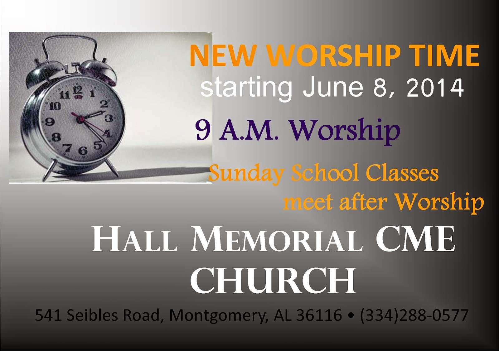 New Worship Times Coming June 2014