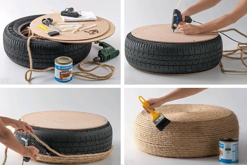100 coolest furniture ideas from reused materials for How to make tire furniture
