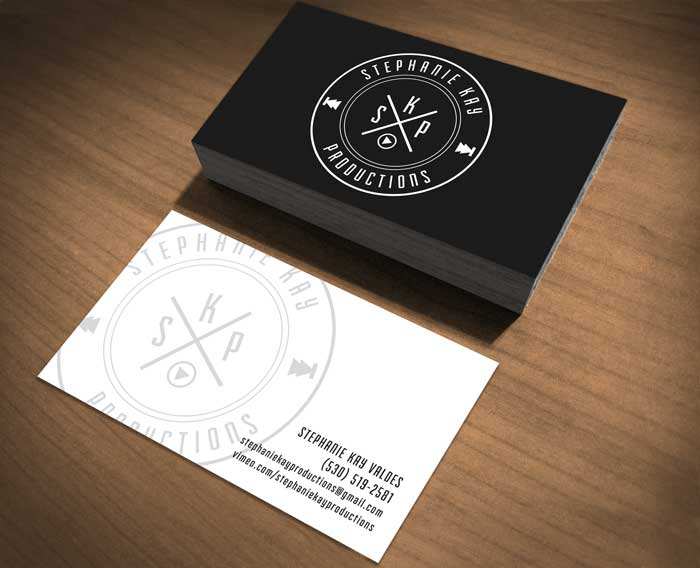 Loriesque logo design business cards logo and business card design for my good friend stephanie over at stephanie kay productions specializing in custom wedding video andor all your video reheart Images