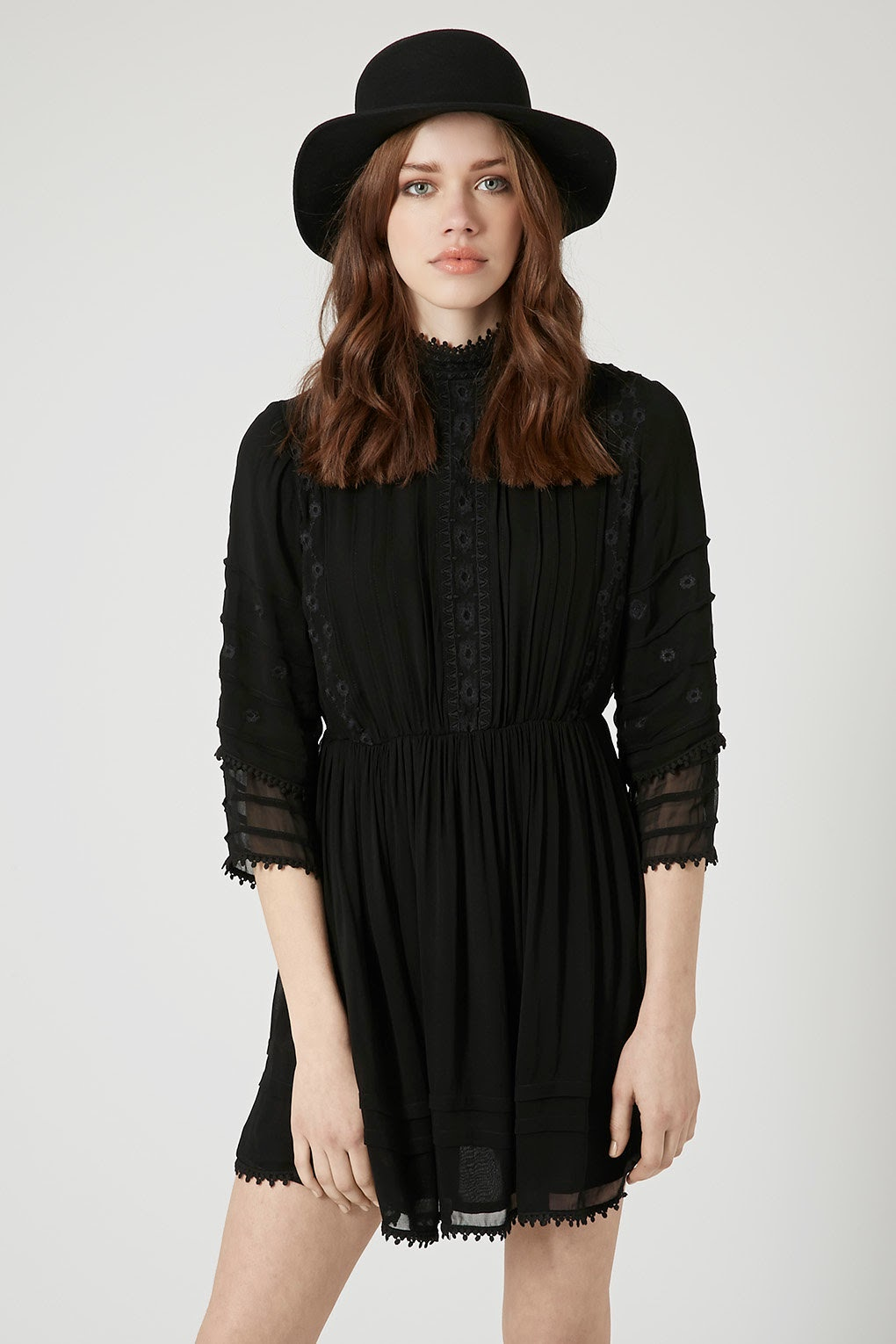 black victoriana dress