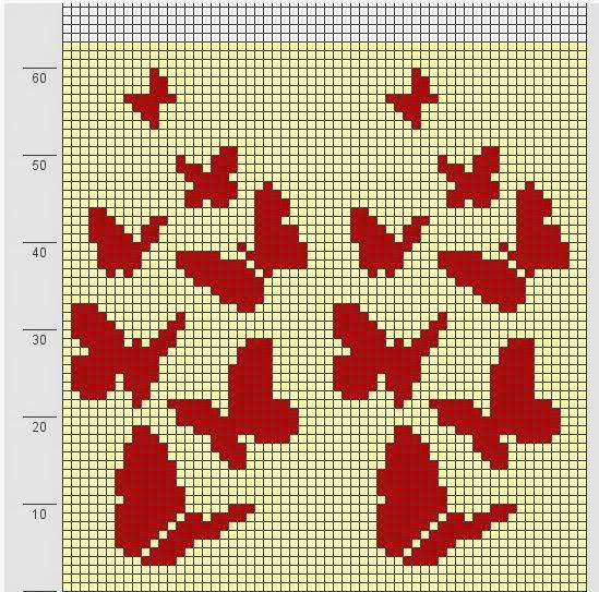 Knitting Charts Free : Cross stitch butterfly free pattern
