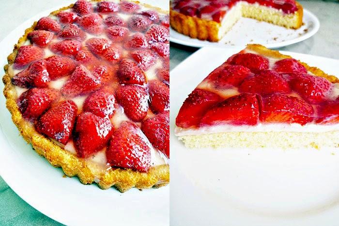 Erdbeer-Pudding Torte