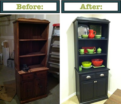 Simply Parkers Repurposing Furniture Bookshelf Turned Hutch