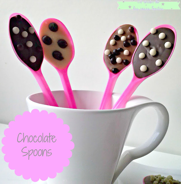 cucharas chocolate spoons