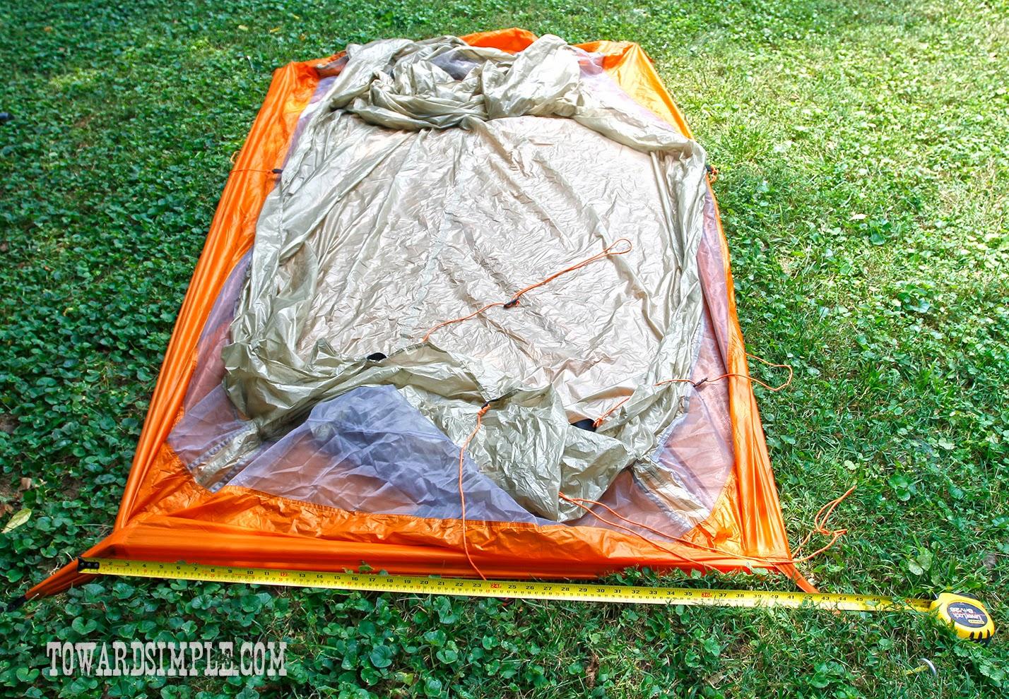 Measure tent perimeter for footprint