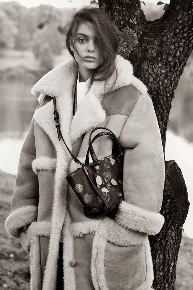 Coach 2014 AW by Stuart Vevers Beige Shearling Coat Editorials