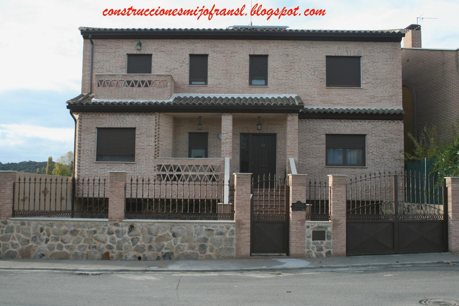 Construcciones mijofran s l casa de ladrillo envejecido - Ladrillo visto precio ...