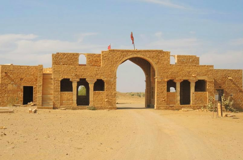 Entry to the haunted village of Kuldhara