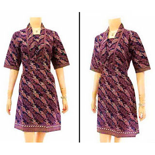 DB2957 - Model Baju Dress Batik Modern Terbaru 2013