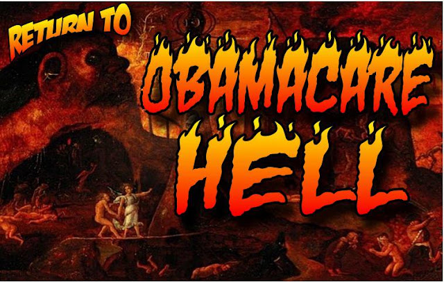 obama, obama jokes, political, humor, cartoon, conservative, hope n' change, hope and change, stilton jarlsberg, obamacare, health insurance, blue cross, hell