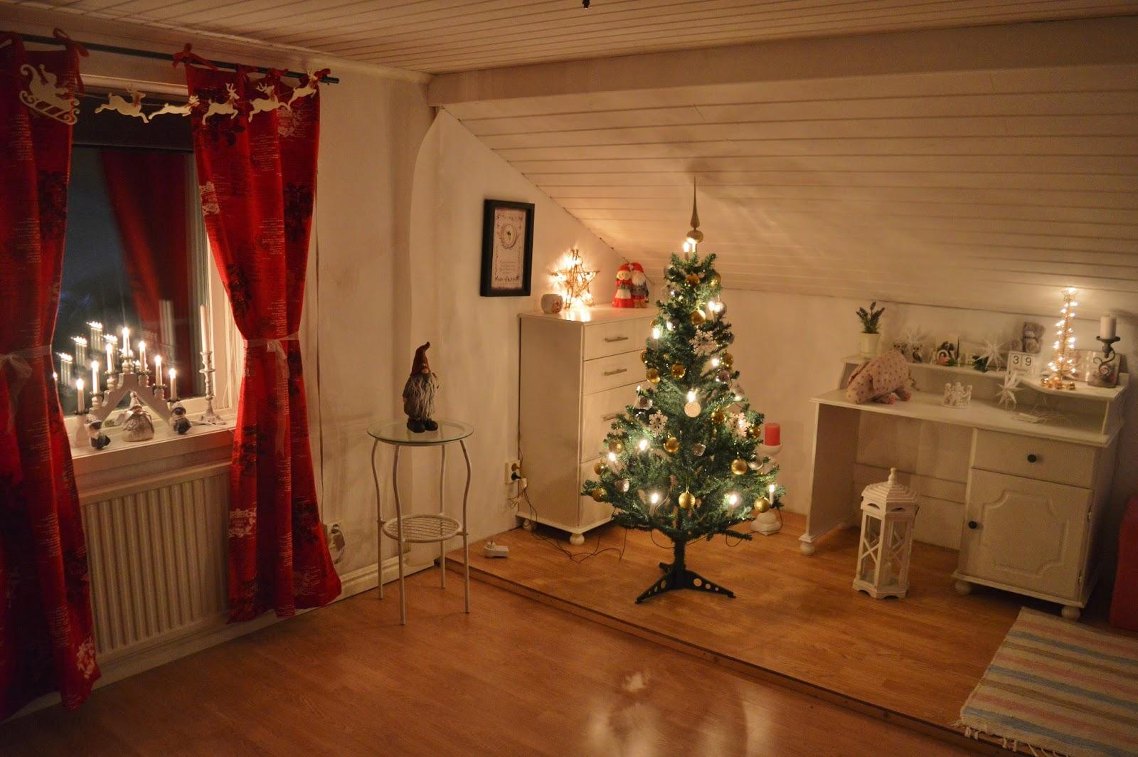 Lisas vinterland: julen i mitt rum