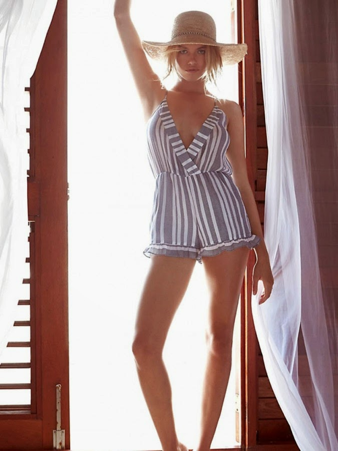 Tularosa Spring/Summer 2015 Beachwear Lookbook featuring Hailey Clauson
