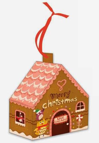 6 1 casette natalizie di carta da costruire creare con - Casette di cartone da costruire ...
